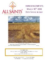 Announcements 03.18.2018 Lent 5