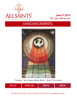 ANNOUNCEMENT BULLETIN 06.09.2019 – Pentecost