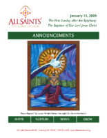 Announcements 01.12.2020 Epiphany 1 Baptism of Jesus