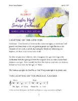 4 4 2021 6:30 AM Easter Vigil Sunrise Service
